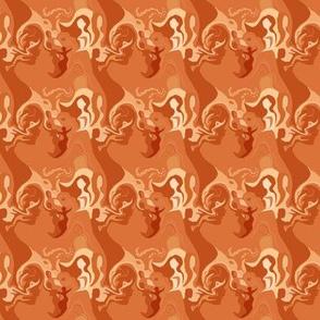 Fascinating Girls in Monochromatic Burnt Orange