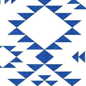 Navajo Texture - Navy Blue (Large)