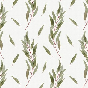 Green Watercolor Eucalyptus Pattern
