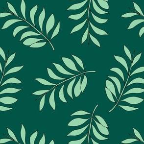 Palm spring leaves sweet minimal botanical garden summer design green lush mint