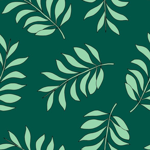 Palm spring leaves sweet minimal botanical garden summer design green lush mint XXL