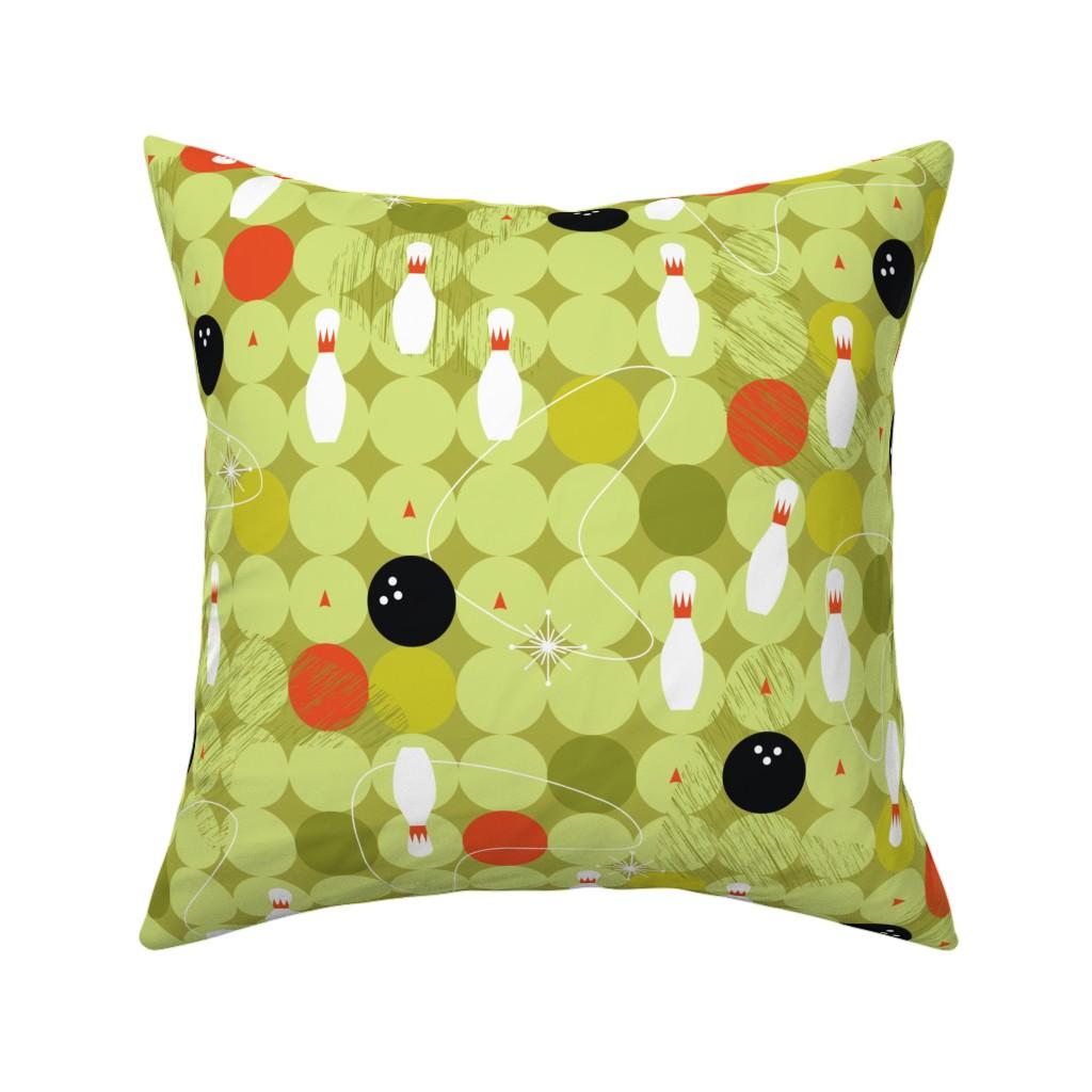 Catalan Throw Pillow featuring Bowl-o-rama! by cynthiafrenette