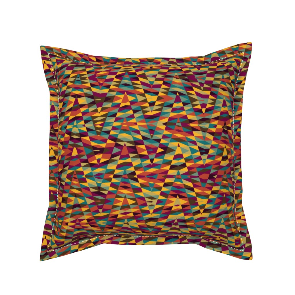 Serama Throw Pillow featuring moroccan arrow - multicolor by weavingmajor