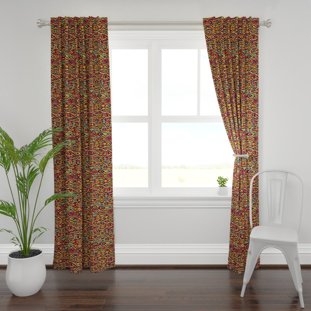 Plymouth Curtain Panel featuring moroccan arrow - multicolor by weavingmajor