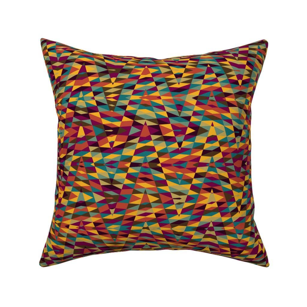 Catalan Throw Pillow featuring moroccan arrow - multicolor by weavingmajor