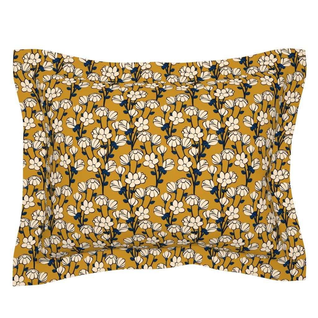 Sebright Pillow Sham featuring Floral Spring by lapetitelecour