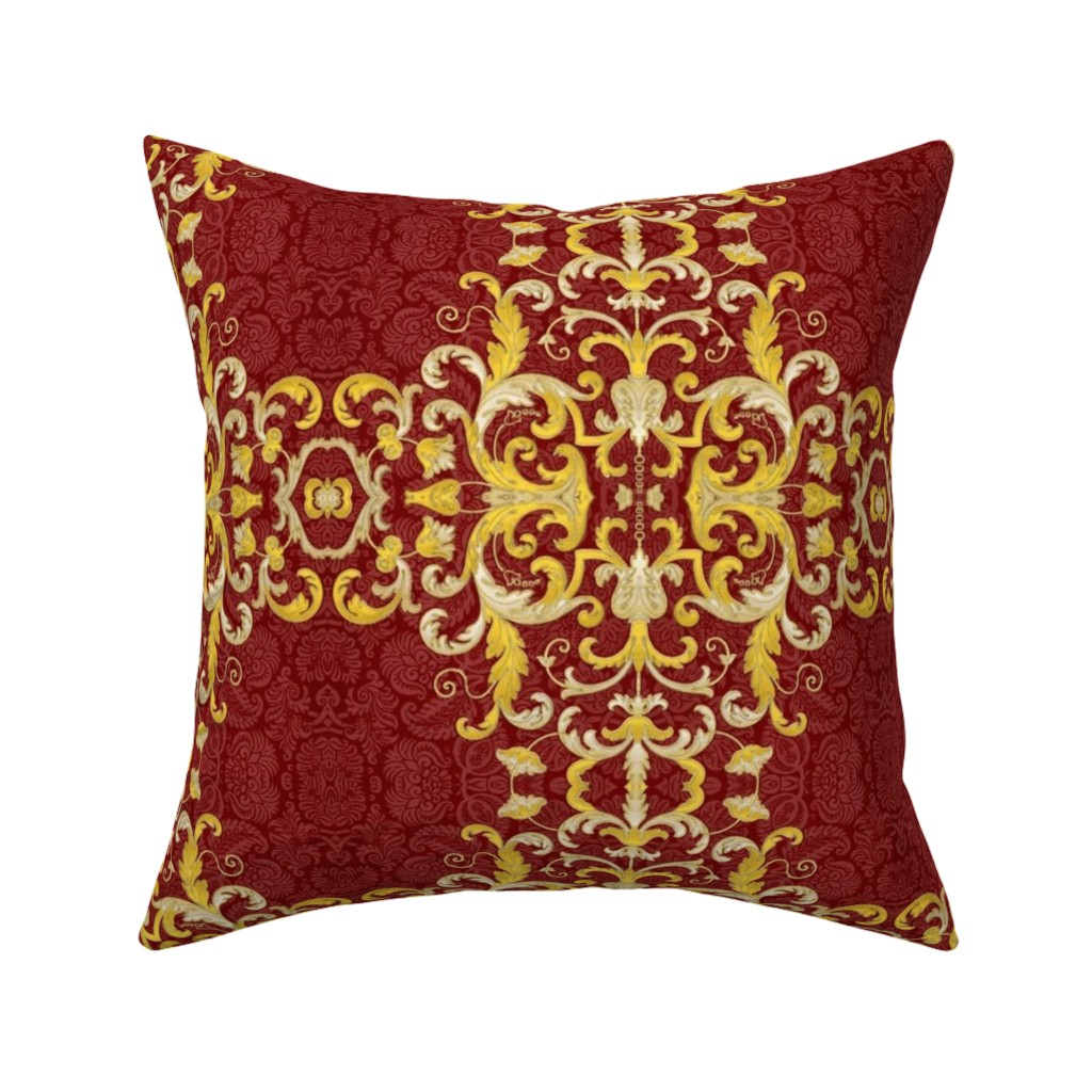 Catalan Throw Pillow featuring 16eme siecle 26 by hypersphere