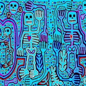 Halloween Skulls - Dia de los Muertos Skeleton Lovers