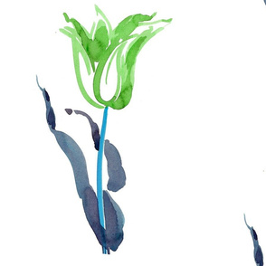 cestlaviv_tulip3_bluegreen_9x12