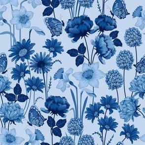Spring Flowers in Blue