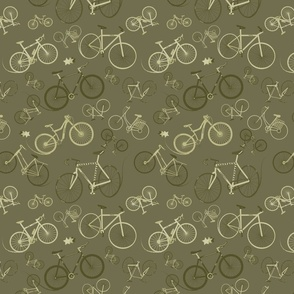 I love bikes army green