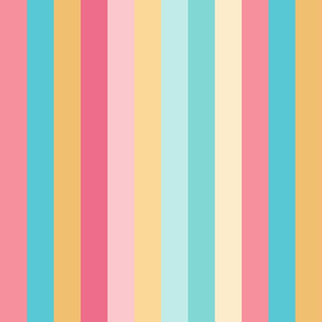Warm Rainbow Stripes 1.5 inches