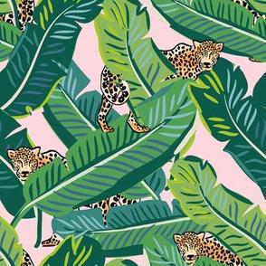"8"" Cheetah & Tropical Leaves - Pink"