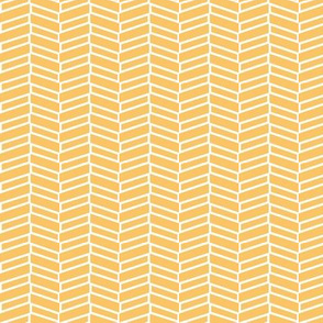 Modern Herringbone / Tangerine