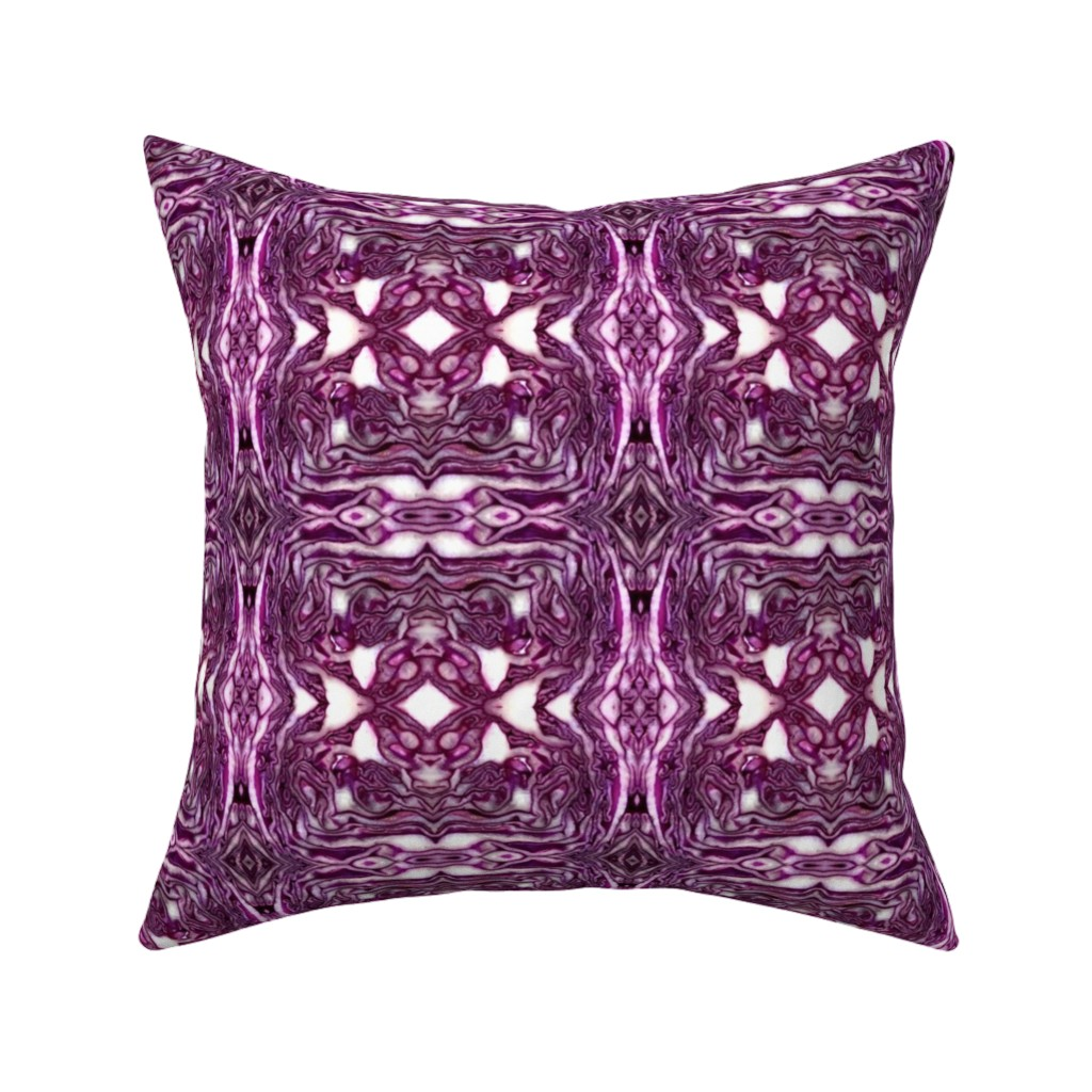 Catalan Throw Pillow featuring red cabbage by hypersphere