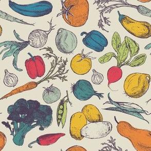 Vintage Vegetable Garden