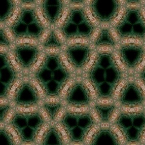 Kaleidoscope in beige, green and black
