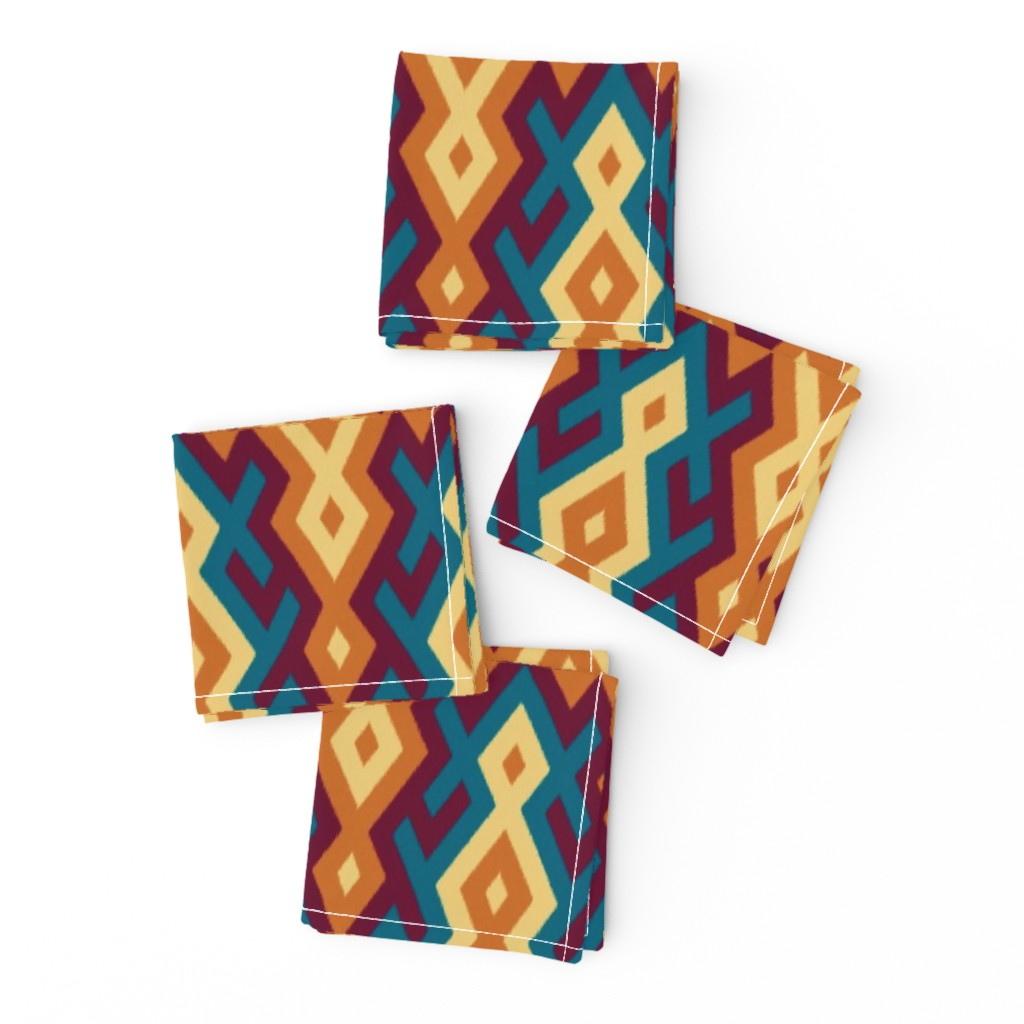 Frizzle Cocktail Napkins featuring Sarong - ring of fire by ormolu