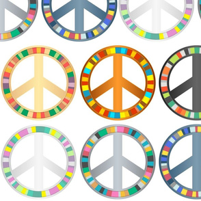 Rainbow Peace symbols