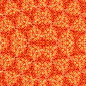 Kaleidoscope in orange, red and yellow
