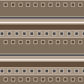 modern squares and stripes in browns