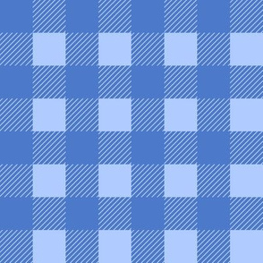 1 inch buffalo checks in blue and light blue