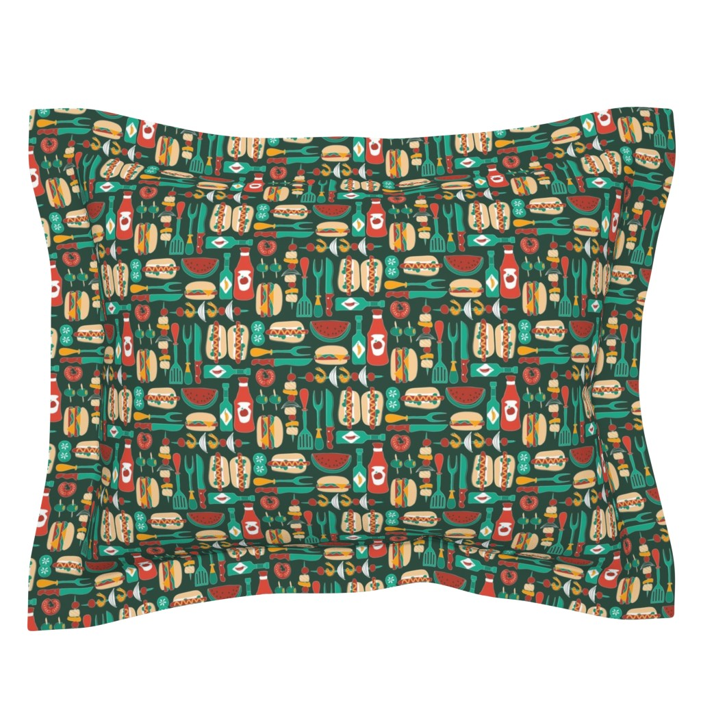 Sebright Pillow Sham featuring Summer cookout by ebygomm