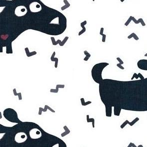 Monochrome doggy prints