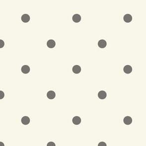 Small Dot- Clay, Ivory