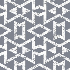 Tribal Triangles Geometric Textured - Cool Grey