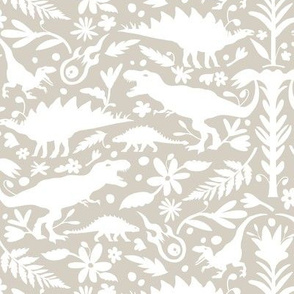 Dinosaur Otomi Warm Gray
