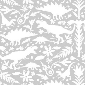 Dinosaur Otomi Cool Gray