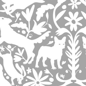 Dog Otomi White on Cool Gray