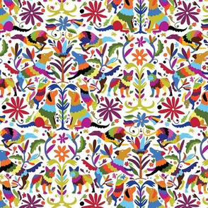 Dog Otomi Multicolor Mini Print