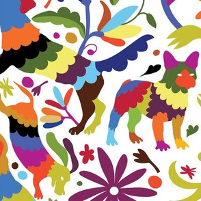 Dog Otomi Multicolor Larger Print
