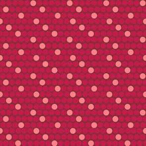 Staggered Polka Dots Red