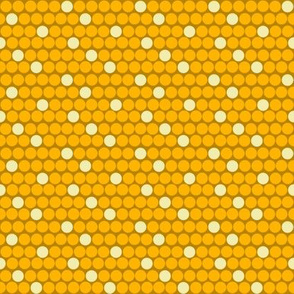 Staggered Polka Dots Yellow