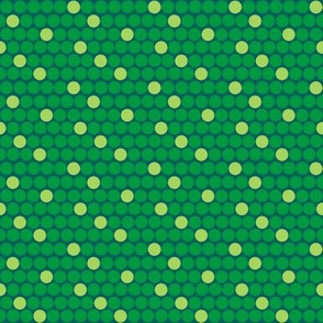 Staggered Polka Dots Green