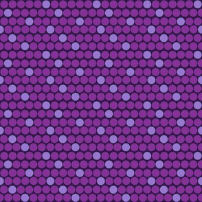 Staggered Polka Dots Purple