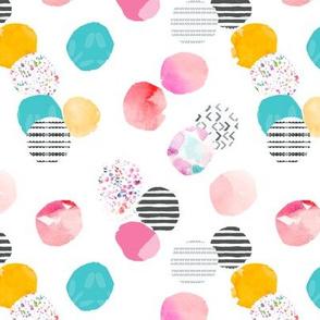 Berry Flor Painted Dots Watercolor