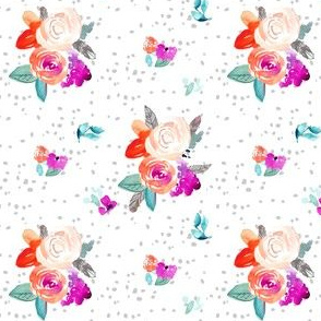 Berry Flor Bright Purple and Pink Watercolor Floral