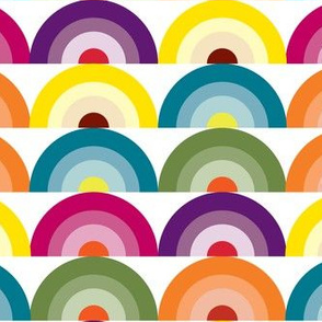 Geology Rainbow Rocks, Rainbow fabric, Vintage Inspired, Color Spectrum, Colorful fabric, Happiness