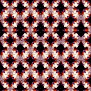 Psychedelic. Sakura White, Lilac, and Vermillion