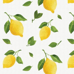 Watercolor Lemons Seamless Pattern
