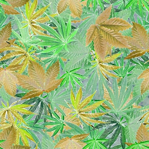 Pale Green Cannabis Camo
