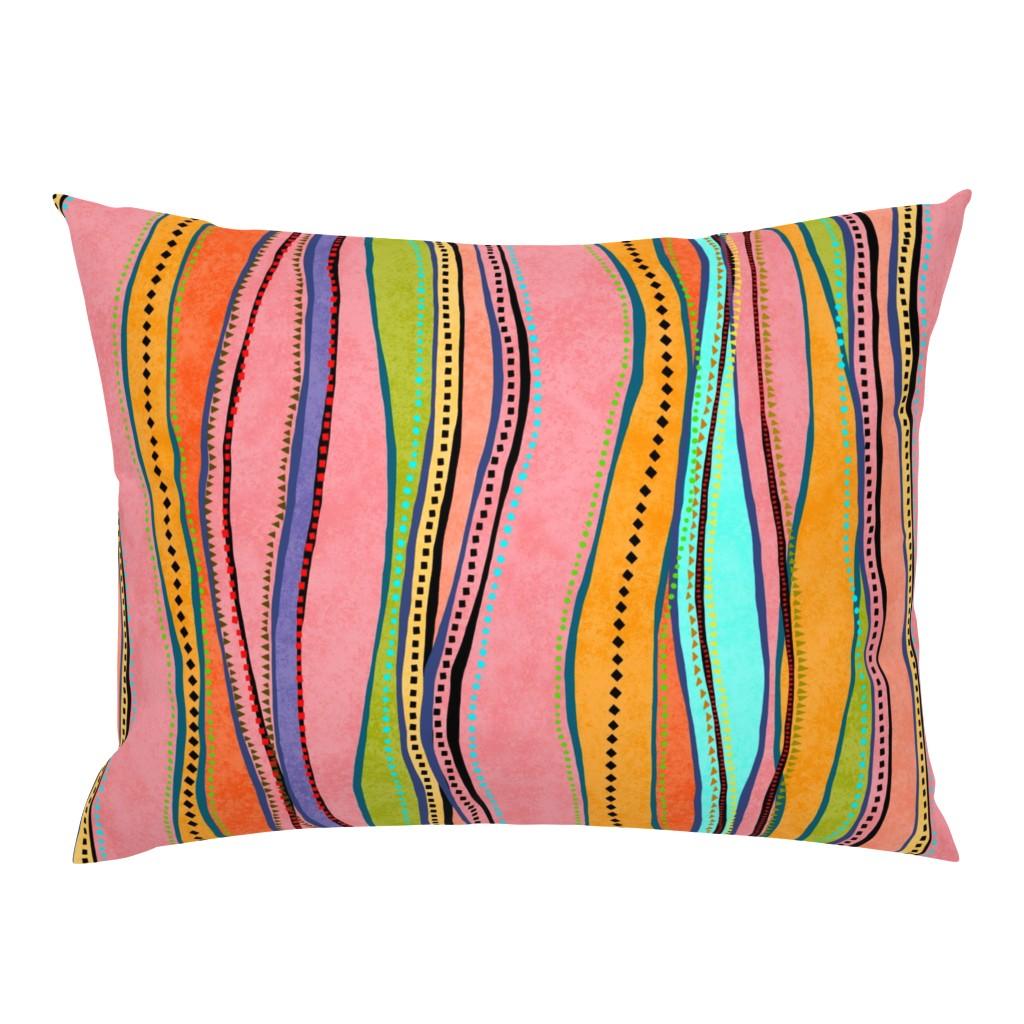 Campine Pillow Sham featuring Castaways Papaya 150 by kadyson