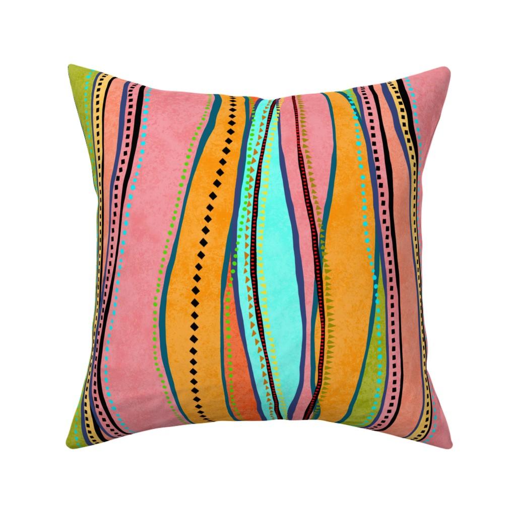 Catalan Throw Pillow featuring Castaways Papaya 150 by kadyson