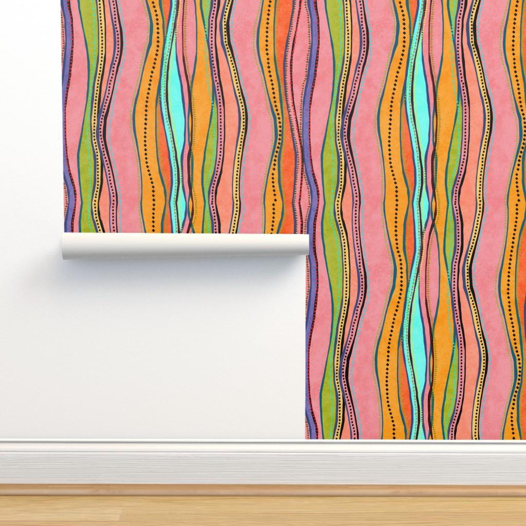 Isobar Durable Wallpaper featuring Castaways Papaya 150 by kadyson