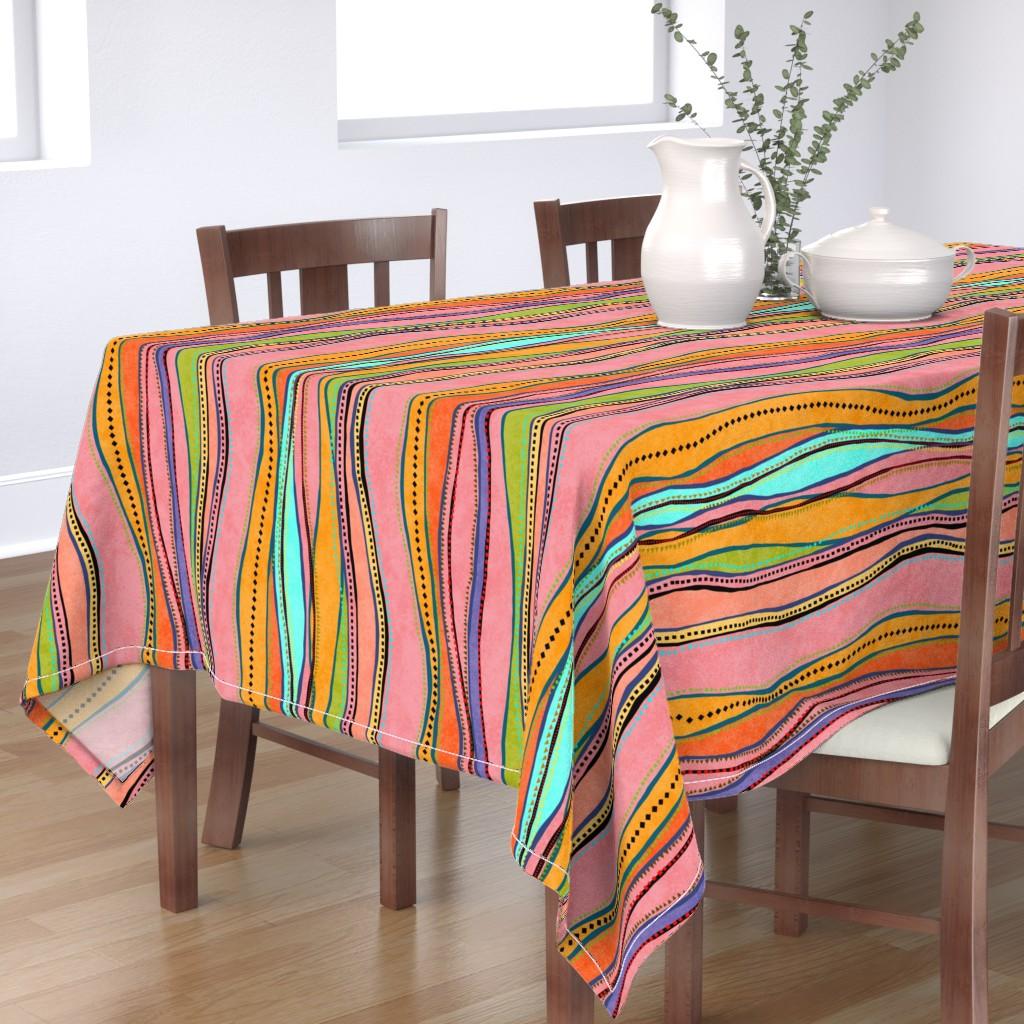 Bantam Rectangular Tablecloth featuring Castaways Papaya 150 by kadyson