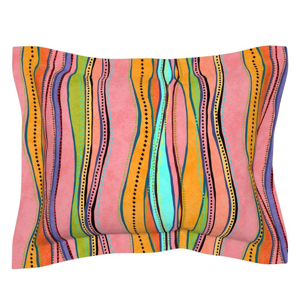Sebright Pillow Sham featuring Castaways Papaya 150 by kadyson